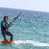 Kitesurf school Tarifa. Riding a kite board